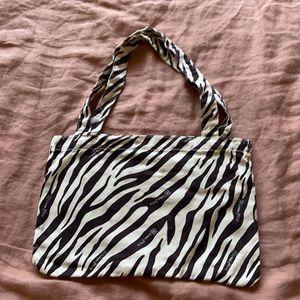 Zebra Canvas small tote